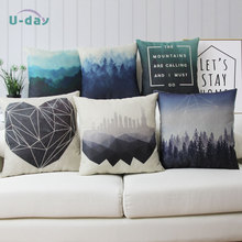 Forest cushion cover /city pillow/Sofa Home Decoration pillow cover/funda cojin/ cheap decorative almofadas