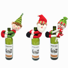 2017 Christmas Snowman Santa Claus Gift For Wine Bottle Decorations Supplies Ornament Home Da Decoracao De Natal Adornos Navidad