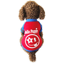 Cute Smile Face Pic Printing Vest Coat for your cute dog Free Shipping Dogs Clothes new clothing for dog(China)