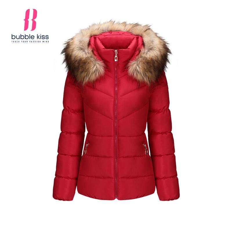 Down Coat Women Winter Faux Fur Hooded Jacket Parka Hooded Patchwork Warm Zipper Casual Long Sleeve Outerwear Coat BubblekissОдежда и ак�е��уары<br><br><br>Aliexpress