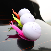 Cute Simulation Snail Car Air Freshener Ornament Decoration Solid Nano Mineral Crystals Air Freshener For Car Household(China)