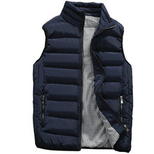 Vest Men 2019 New Autumn Winter Warm Sleeveless Jacket Waistcoat Men's Vest Fashion Casual Coats Mens 5XL(China)