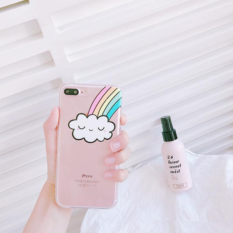 Smiling Rainbow Cloud Phone Case