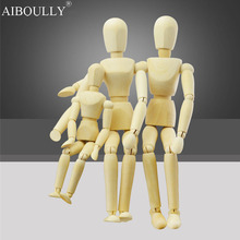 Artist Movable Limbs Male Wooden Figure Model Cartoon Painting Mannequin bjd Art Sketch draw 14 20 30cm
