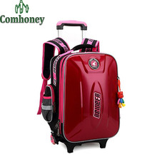 Kids Luggage Bags Removable Waterproof Hardside Luggage with Wheels Children's Travel Suitcase on Wheels Boys Girls Luggage Bag