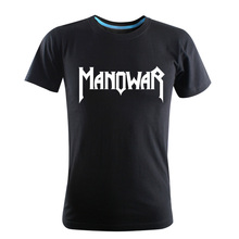 2017 Fashion Summer New Manowar Rock Band T-shirts Casual Hip Hop Boys Loose Short Sleeve T Shirts Cotton O-Neck Men Plus Size