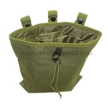 Military Airsoft Tactical Folding Mag Recovery Dump Pouch Outdoor Hunting Paintball Nylon Pouch With Molle Belt Loop(China)