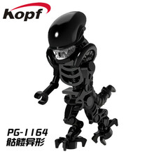 PG1164 Super Heroes Skeleton Skull Alien One-Eyed Halloween Cyclops Omino Snake Undead Building Blocks Collection Children Toys(China)