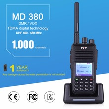 TYT MD-380 DMR Digital Two Way Radio DMR UHF 400-480MHz 5W Walkie Talkie Up to 1000 Channels with Color LCD Display(China)