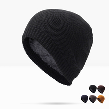 2017 Real New Adult Boy Winter Beanie Hats For Knitted Male Brand Warm Cap Men's Beanies Skullies Bone Peas Set Of Head Gorro(China)
