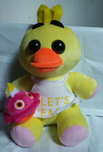 25CM FIVE NIGHTS AT FREDDY'S PLUSH TOY STUFFED DUCK DOLL CHICA FOR GAME PLAYERS' GIFT KIDS TIOY GOOD QUALITY SOFT COSPLAY PROPS(China)