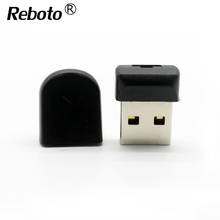 Reboto Super Mini black usb flash drive 64GB high speed pendrive 32GB memory stick 4GB 8GB 16GB creative usb stick