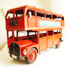 Free shipping Retro Double layer bus model London metal Bus model creative gift/toy car fashion home decoration