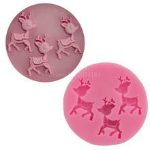 3 hold Christmas star deer Silicone Fondant Soap 3D Cake Mold Cupcake Jelly Candy Chocolate Decoration Baking Tool Moulds FQ1782