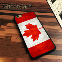 MaiYaCa Canada National Nation Flag Patterned Soft TPU Case for iphone 7 Soft Rubber Phone Case For iPhone 7 Bags Fundas Cover