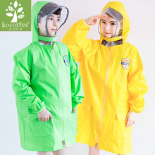 Kocotree Impermeable Transparent Children's Raincoat Cartoon Waterproof Kids Rain Coat Boys/Girls Rain Gear Poncho(China)