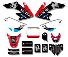 New Style TEAM GRAPHICS&BACKGROUNDS DECAL STICKERS Kits For Honda crf 50 CRF50F 2004-2012 (Black/White)(China)