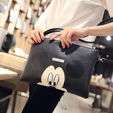 2017 Women Hello Kitty Clutches Minnie Mickey PU Leather Handbags Casual Ladies Cartoon Envelope Messenger Bag Bolsa Feminina(China)