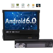 Single Din Car DVD Player Android 6.0 Autoradio Video support wifi 3g 4g FM/AM Radio Receiver in Dash single 1Din GPS Navigation