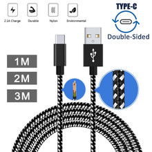2.1A Braided Aluminum USB-C USB 3.1 Type C Data&Sync faster Charger Cable For Samsung Galaxy S8(China)