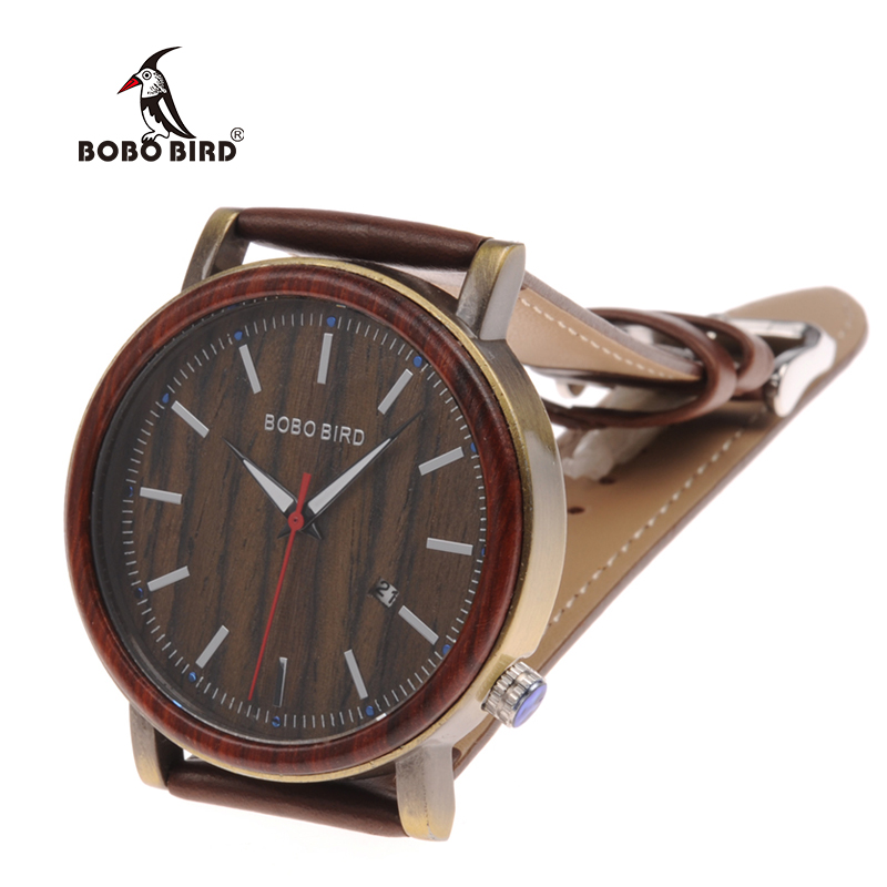 wooden watches  mens bobo bird luxury brand watches for men gifts (2)