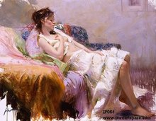 Famous pino art oil painting Sexy woman reproduction on sale of best quality -- Cheap Artwork unframed(China)