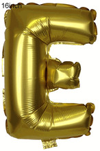 "16inch Metallic Gold Foil Mylar Balloons Alphabet Letter ""E"" Event Birthday Graduation Party Decorations(China)"