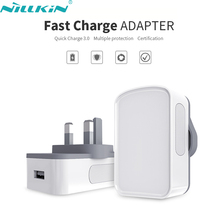 Original NILLKIN 6.5V 3A Quick Charge 3.0 Mobile Phone Fast Charger Power Adapter UK Standard Travel Plug Wall USB Charging