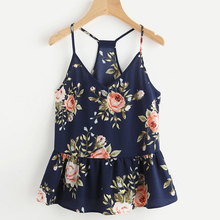 Buy GAOKE 2018 Women Strapless Top Floral Casual Sleeveless Crop Top Vest Tank Loose Sexy Shirt Cami Top Summer Beach Halter Vest