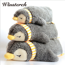 55cm Baby Lovely Plush Animal Penguin Dolls Toy Super Soft PP Cotton Stuffed Pillow Kids Plush Toys Birthday Gifts WW334(China)