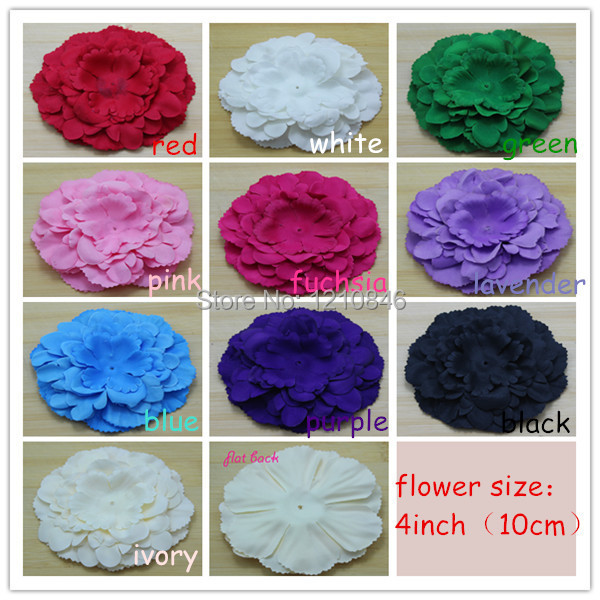 trail order peony design fabric flower silk flower grip for baby girls clothes /cap / hair or headband accessories 30pcs/lot<br><br>Aliexpress