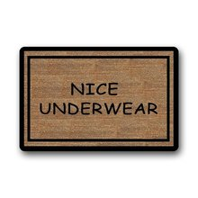 "WARM TOUR Funny Doormats Nice Underwear Custom Entryways Non Slip Indoor/Outdoor Doormat23.6""(L) x 15.7""(W)"
