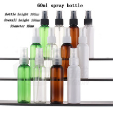 Capacity 60ml 50pcs/lot Spray bottle PET plastic spray bottle,Rounded shoulders cosmetic bottles