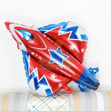 Large battle plane balloon91*87cm airliner helicopter 20pcs/lot inflatable ballon aluminum foil globo kids love toys PL013(China)