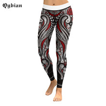 Buy Qybian 2017 High Waist 3D Tribal pattern Printed Leggings Sporting Women Pencil Active Pants Workout Spandex Leggins for $14.63 in AliExpress store