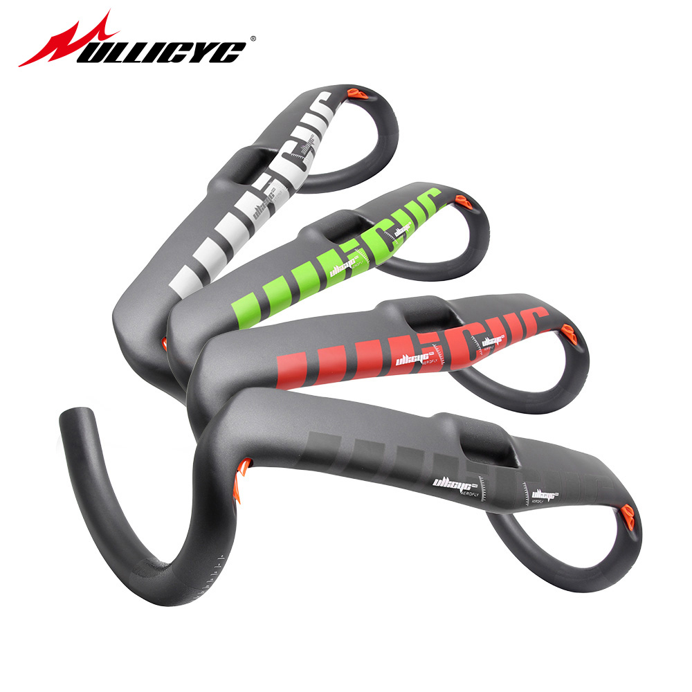 Ullicyc UD matt gloss logo finish red full carbon fiber road handlebar bent bar with stem 400/420/440mm free shipping<br>