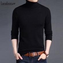 9d00ade0d 2019 nueva marca de moda suéteres para hombre jersey de cuello alto cálida Slim  jerséis Knitred otoño coreano estilo Casual ropa