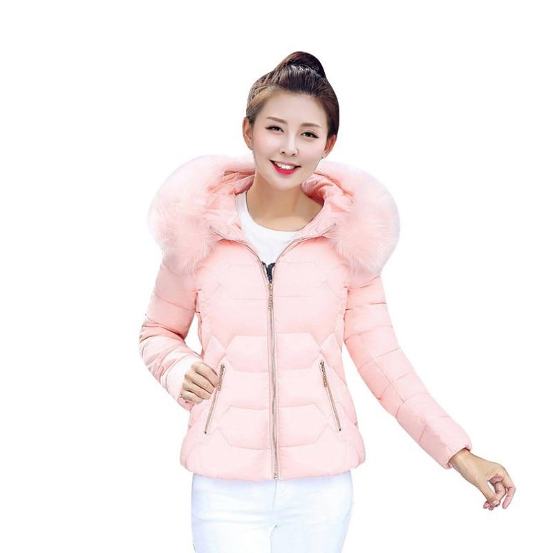 New Arrival Parkas for Women Winter Coats Faux Fur Collar Hooded Down Cotton Slim Lady Coats Warm Plus Size Parka JaketОдежда и ак�е��уары<br><br><br>Aliexpress
