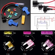 11PCS/Set  Medium Mini Micro 3 Sizes Blade Fuse Car Truck Auto Audio Inline Take Electrical Fuse Holder Box 5-30A Blade Fuse