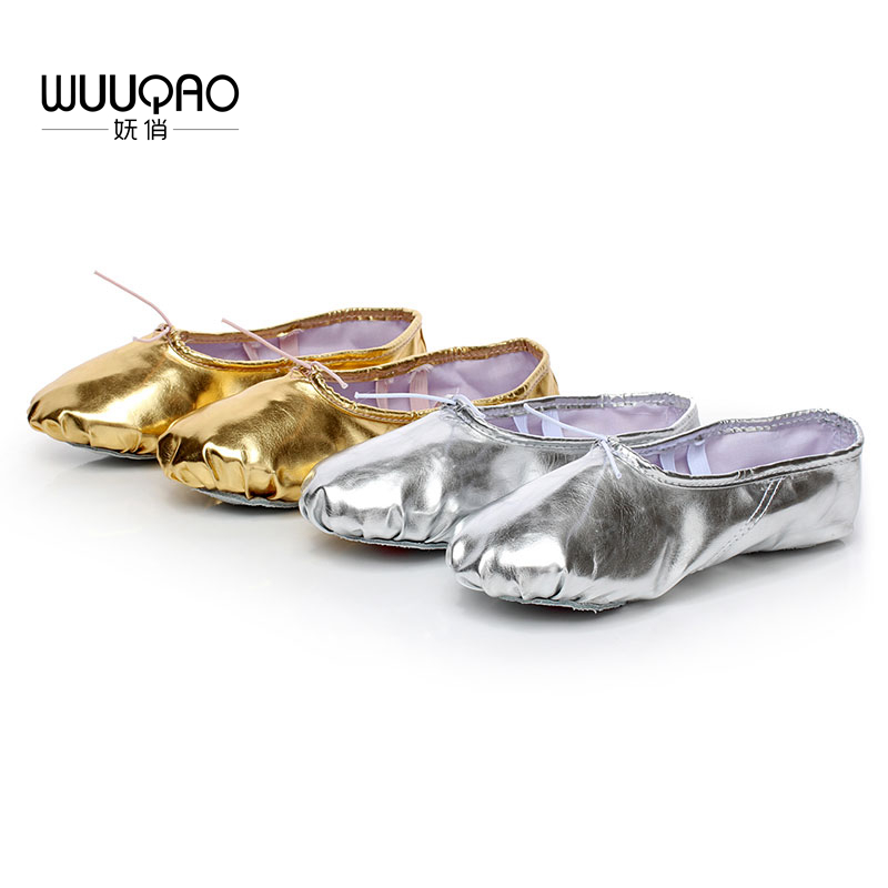 Child Adult Ballet Point Shoes Women's Professional Ballet Dance Shoes Soft Sole Belly Dance Shoes PU Ballet Dance Shoes