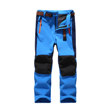 Ski pants hiking camping boy girl child waterproof breathable soft shell thick pants the latest high quality