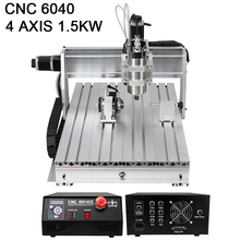 NO Tax For Russian Router Woodworking CNC Machine 6040 4 Axis Mini Engraving and Aluminum Milling Machine Metal 1.5kw
