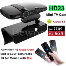 Android TV BOX Camera Allwinner H3 Quad Core 1G 8G  HD23 EU3000 Smart  Mini PC WIFI Google IPTV XBMC Skype VS A95X M8S Plus X96