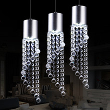 LED Three restaurants light bar bar dining room table 11w - 15w crystal meals chandeliers 110v-240v @-9(China)