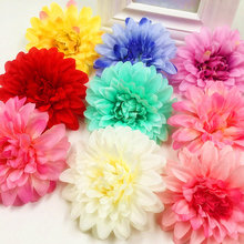 5 PCS (9 cm/flower) artificial silk daisies dahlia head wedding brooches household adornment flowers DIY gift box collage(China)