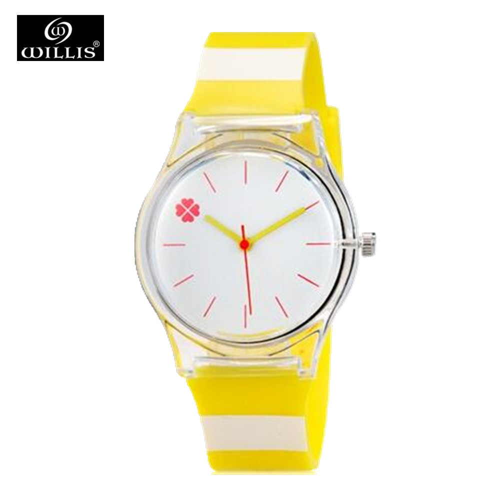 MiNi Students Kids Women s Yellow Jelly Strap and Little Flower Design Waterproof Quartz Wrist Watch<br><br>Aliexpress