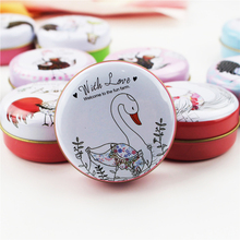 Cute Chicken Picture Tea Box Candy Case Round Tin Box Mac Cosmetic Lipstick Organizer Metal Coin Pill Container 12Piece/Lot