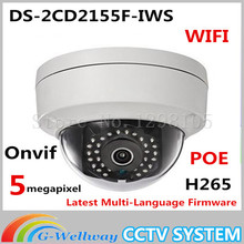 Buy 5MP IP Camera POE Audio Alarm Interface DS-2CD2155F-IWS H.265 Dome kamera security Camera WIFI onvif 30M IR Wireless cctv Camera for $104.00 in AliExpress store
