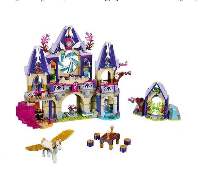 Lepin 30001 848pcs Girls friends Elves Skyras Mysterious Sky Castle Building Kit Blocks Bricks Toys for girls gifts brinquedos<br>