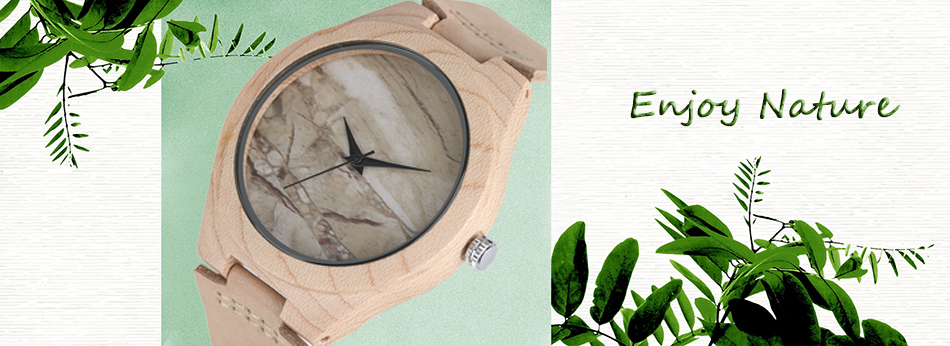 ไม้ไผ่ไม้นาฬิกาข้อมือผู้ชายฉลามแบบหน้าปัดที่ทำด้วยมือไม้สร้างสรรค์ดูผู้หญิงอิน 2